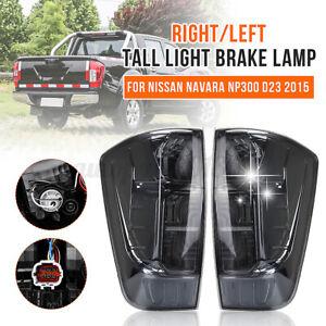 Smoked Black Pair Rear Tail Lights Lamp For Nissan Navara NP300 D23 Ute