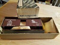 HO Scale TRAIN Kit W/Box ATHEARN C&O Chesapeake and Ohio LUMINOUS A 177