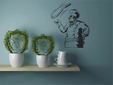 Chef Kitchen Wall Decal Pizza Pasta Removeable CT1