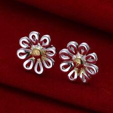 Paar Damen Ohrring Ohrstecker Ohrringe Blüte pl. mit Sterlingsilber DO014 T::A