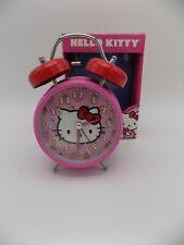 "Hello Kitty Twin Bell Alarm Clock Sanrio 2012 GU w Box Battery Operated 7"" Tall"
