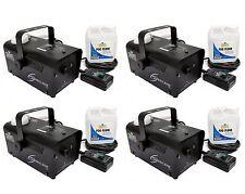 Chauvet DJ Hurricane Pro Fog Smoke Machine with Fog Fluid and Remote (4 Pack)