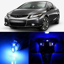 8 x Ultra Blue LED Lights Interior For Honda CIVIC 2013 - 2014  + Pry TOOL