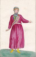 Gravure XIXe Femme Tatar Kazan Russie Russia Казань Татарстан Казань Татары 1805