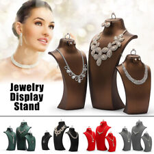 Flannel Necklace Display Stand Holder Jewelry Mannequin Pendant Display Model