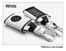 White Remote Leather Key Case Cover Shell Fit For CADILLAC SRX XTS CTS FOB Key