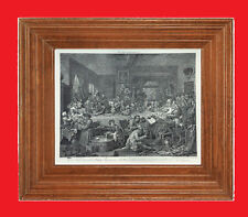 """WILLIAM HOGARTH  """"The Election"""" Series  - Plate No.1 Vintage Print  - 24"""" x 18"""""""
