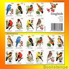 20 Songbirds Forever Stamps Bluebird Lark Finch Oriole Sparrow Tanager Song Bird