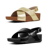FitFlop Lulu Cross Back Strap Women's Mirror Metallic Sandals RRP £85!