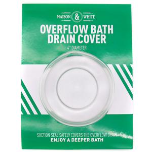 Bathtub Overflow Drain Cover Deeper Bath Cover Universal Fit M&W