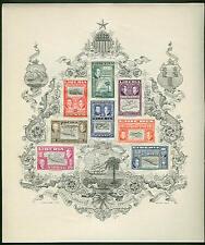 LIBERIA #C69a  Ashmun Souvenir Sheet of 9 NH by Szyk