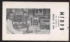 Postcard Hampton VA Ham Radio Operator 1962