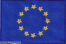 Toppa Termoadesiva Ricamata Bandiera Unione Europea  Nuova, Patch Flag on E.U.