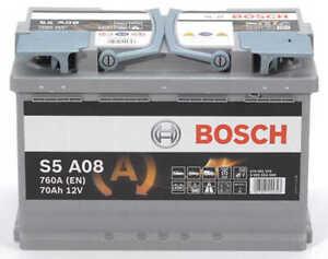 Batterie AGM BOSCH S5A08 70Ah/760A
