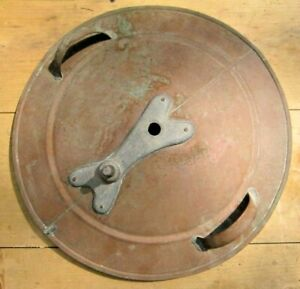 "ANTIQUE VINTAGE 18 1/2"" COPPER WASHING MACHINE LID"