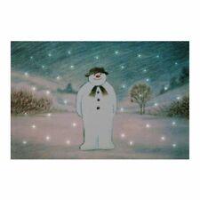 Illuminated 'the Snowman' 30x20cm Canvas