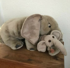 """Animal Planet Momma Elephant And Baby 20"""" Plush Brown"""