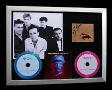 SIMPLE MINDS+SIGNED+FRAMED+FORGET ABOUT ME=100% AUTHENTIC+EXPRESS GLOBAL SHIP