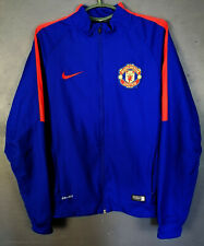 RARE MEN'S NIKE FC MANCHESTER UNITED JACKET SOCCER FOOTBALL HOODIE BLUE SIZE M