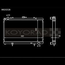 Koyo HH020252N N-FLO Racing Radiator for 89-94 240SX S13 SR20DET