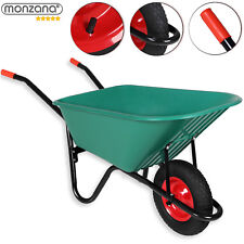 monzana® Schubkarre 100L Bauschubkarre bis 150kg Gartenkarre Stahlfelgen
