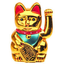 Gold Maneki Neko Lucky Waving Chinese New Year Fortune Cat (Battery Operated)