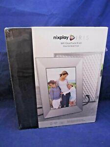 "Sealed Nixplay Iris 8"" WiFi Cloud Frame Remote Control Sliver Metal Finish (SP)"