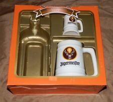Jagermeister '98 Oktoberfest [LOT of 2] Ceramic Drink Stein Mug + Shot Glass Mug