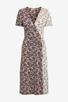 NEXT Multi Floral Mix Print Midi Wrap Tea Dress Size 12 BNWT Summer Party