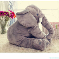 Large Long Nose Elephant Sleep Pillow Baby Plush Toy Lumbar Cushion Doll 15.7in