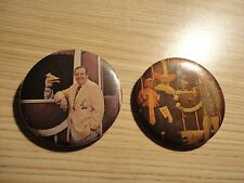 Vintage 70s Bozo the Clown Button Pin Frazier Thomas Garfield Goose Pinback Lot
