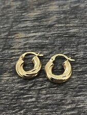 14Kt Yellow Gold Small 13MM Hoop Earrings