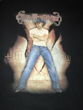 2004 Tim McGraw Large T Shirt Out Loud Summer Tour Concert Tee