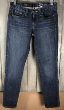 J.Crew Women Sz 28 Ankle Toothpick Skinny Jeans Dark Wash Denim Blue