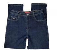 Gloria Vanderbilt Women 12 Short Straight Dark Wash High Rise Jeans Pants Blue