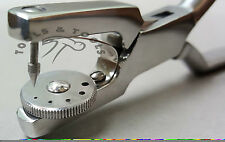 Heavy Duty 7'' Jewelry Rotatory 5 Hole Punch Pliers Metal Leather Sheets Tool