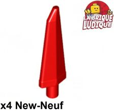 Lego - 4x Tip Blades Epi Spike Flexible 3.5L Red/Red 64727 New
