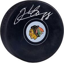 Patrick Kane Chicago Blackhawks Signed Logo Hockey Puck - Frameworth - Fanatics