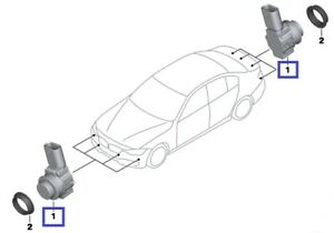 BMW 3-SERIES F30+F80+F31+F34 FRONT/REAR PARKING SENSOR BLACK GENUINE NEW 9261582