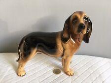 Pottery Hound Dog Sculpture Figurine