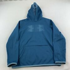 Under Armour Sweater Youth Large Blue Hoodie Hooded Pullover Outdoor Boy Kids
