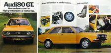 Audi 80 GT Mk 1 1974-75 Original UK Market Sales Brochure