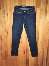 Sz 000 short junior's AREOPOSTALE BAYLA CURVY SKINNY stretch dark denim jeans