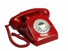 GPO 746 Retro 1960s Style Rotary Dial Telephone in Red