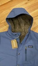 NeW patagonia Boys Infurno Coat Winter Jacket 68460 Blue Size 10 Medium Hood