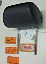 99 00 AUDI A4 LEFT FRONT SEAT HEADREST HEAD REST OEM BLACK LEATHER S4 01 02 CAR