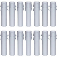 Covers Sleeves For Most Chandeliers(4 24 Packs White Plastic Candle