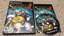 PS2 CASTLE SHIKIGAMI 2 Complete SHMUP video game NM DISC Excellent Condition