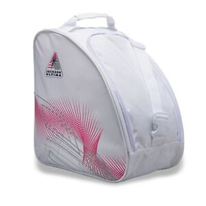 Jackson Oversized Ice Skate Bag - White / Pink