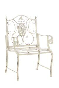 #NOU120 Stuhl Punjab antik-creme Gartenstuhl Eisenstuhl Metallstuhl Stuhl
